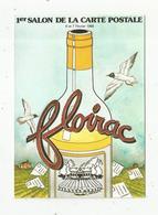 Cp, Bourses & Salons De Collections,  1 ER SALON DE LA CARTE POSTALE , FLOIRAC ,1988, Illustrateur Y. Mauger - Bourses & Salons De Collections
