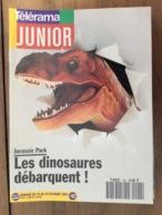 Télérama JUNIOR : N°92 - Octobre 1993 - En Couverture : Les Dinosaures , Jurassic Park ... - Andere