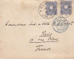 LETTRE. REICH. 18 2 87. 40 Pf. CLAUSTHAL POUR PARIS. PARIS ETRANGER         / 2 - Briefe U. Dokumente