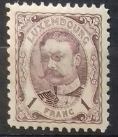 LUXEMBOURG N° 83 COTE 35 € NEUFS ** MNH 1 F Violet-brun GUILLAUME IV - 1906 Wilhelm IV.