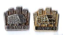 AB - R38 - RENAULT - B - 2 Pin's - Verso :  ARTHUS BERTRAND / PARIS - Arthus Bertrand