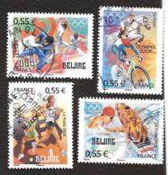 TIMBRES FRANCAIS...OBLITERATIONS RONDES... 2008..N°4222:4225..  J.O  DE PEKIN. ...  Voir Scan - France