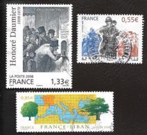TIMBRES FRANCAIS...OBLITERATIONS RONDES... 2008....N°4305-4323-4322..voir Scan - Oblitérés