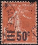 France    .   Yvert   .    225  .  Jaune-orange   .  Signé     .    O   .    Oblitéré  .   /   .  Cancelled - Oblitérés