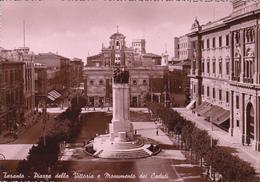 TARANTO - PIAZZA DELLA VITTORIA E MONUMENTO AI CADUTI - INSEGNA CAFFE' E GRANDE BIRRERIA - BIRRA - Taranto