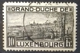 LUXEMBOURG N° 141 COTE 15 € OBLITERE 1923 10 F Noir - Gebraucht