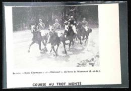 Haras De MAUREVERT  - Course Dau Trot Monté   - Coupure De Presse (encadré Photo) 1951 - Equitation