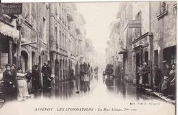 84 AVIGNON Les Inondations - La Rue Limas - Avignon