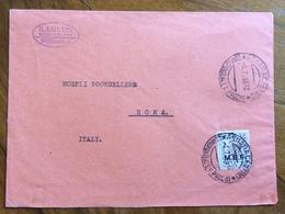 COLONIE ITALIANE OCC. BRITANNICA - M.E.F. 5d  Annullo ASMARA 4/7/46 Su Busta GIORNALE IL LUNEDI' DELL'ERITREA Per ROMA - Altri