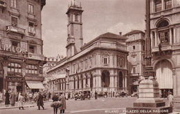 MILANO - PALAZZO DELLA RAGIONE - INSEGNA PUBBLICITARIA BIRRA ITALIA / TELEFUNKEN - Milano (Milan)
