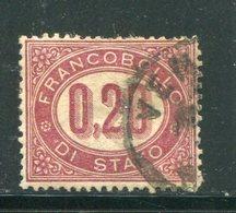 ITALIE- Service Y&T N°3- Oblitéré - 1861-78 Vittorio Emanuele II