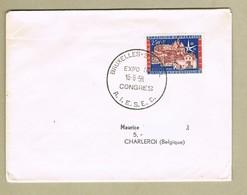 Expo 58 Cachet   Congrès A.I.E.S.E.C. Sur Timbre Exposition 58 - 1958 – Bruxelles (Belgique)