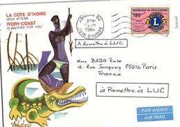 CÔTE D'IVOIRE - LETTRE  / 2 - Costa De Marfil (1960-...)