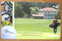87 SAINT-JUNIEN GOLF PASSMAN CARTE 3H PRÉPAYÉE PREPAID PHONE CARD - Other