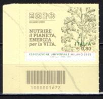 ITALIA - 2015 - EXPO DI MILANO - CODICE A BARRE - Bar Codes