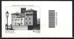 ITALIA - 2015 - LONGIANO: CASTELLO MALATESTIANO - NUOVO - CODICE A BARRE - Bar Codes
