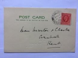 GB 1935 George V Postcard Cricklade To Cranbrook - 1902-1951 (Rois)