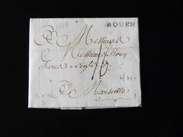 LETTRE DE ROUEN POUR MARSEILLE  -  1784  - - 1701-1800: Vorläufer XVIII