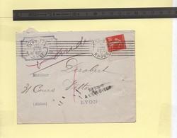 """Enveloppe 1912 Griffes """"retour à L'envoyeur"""" Et """"décédé"""" - 1877-1920: Semi Modern Period"""