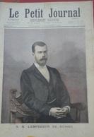 Le Petit Journal N° 307 4 Octobre 1896 S.M. L'Empereur De Russie, S.M. L'Impératrice De Russie - Magazines - Before 1900