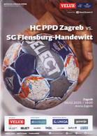 Croatia Zagreb 2020 / Arena / Handball / HC PPD Zagreb - SG Flensburg-Handewitt, Germany / Game Brochure - Handball