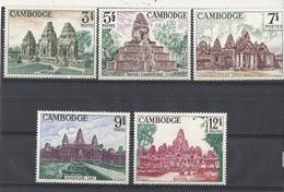 Cambodge Timbres YT N°167/171 Cote 10,50€ Angkor - Cambodge