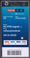 Croatia Zagreb 2020 / Handball / Accreditation / VIP / HC PPD Zagreb - Aalborg Handbold, Denmark - Handball