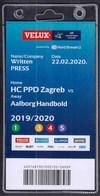 Croatia Zagreb 2020 / Handball / Accreditation / Written PRESS / HC PPD Zagreb - Aalborg Handbold, Denmark - Handball