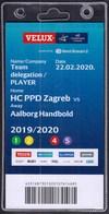 Croatia Zagreb 2020 / Handball / Accreditation / Team Delegation, PLAYER / HC PPD Zagreb - Aalborg Handbold, Denmark - Handball