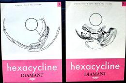 MAGIE OPTIQUE ANAMORPHOSE 7 PLANCHES D'ANAMORPHOSES MODERNES DES ANNEES 1960 OFFERTS PAR LABORATOIRE 24 X 18 CM - Andere