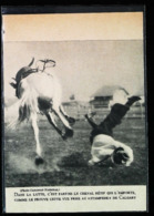 CALGARY (canada) - Rodéo Stampede Avec Cheval  - Coupure De Presse (encadré Photo) 1922 - Equitazione