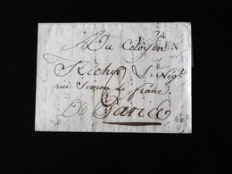 LETTRE DE ROUEN POUR PARIS  -  1793  - - 1701-1800: Précurseurs XVIII