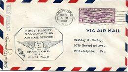 "ETATS-UNIS LETTRE PAR AVION AVEC CACHET ILLUSTRE ""FIRST FLIGHT INAUGURATING AIR MAIL SERVICE....ROCKFORD ILL C.A.M. N°9"" - 1c. 1918-1940 Covers"