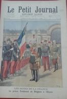 Le Petit Journal N° 286 10 Mai 1896 Hôtes De La France Le Prince Ferdinand Bulgarie à L'Elysée, Maréchal Yamagata - Magazines - Before 1900