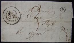Gondrin 1836 (Gers) Boîte Rurale A Lettre Pour Agen (Lot Et Garonne) Cad Illisible - Postmark Collection (Covers)