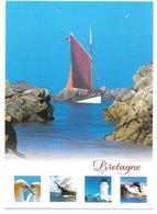 """BRETAGNE - Multivues: Voilier, Misainier, Phare, ... - """" Homme Libre, Toujours Tu Chériras La Mer """" Baudelaire - Bretagne"""