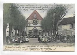 60 - Trie-Château ( Oise ) - Place Communale. Belle Animation. Carte Colorée - Autres Communes