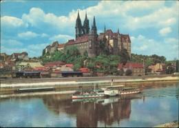 Ansichtskarte Meißen Schloss Albrechtsburg Und Dom, Elbdampfer 1975 - Meissen