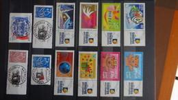 C78 Petite Collection De Timbres De France Personnalisés Avec Belles Oblitérations Rondes. Très Sympa !!! - Collections (with Albums)