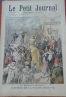 Le Petit Journal N° 279 22 Mars 1896 Cortège De La Vache Enragée Montmartre, Théâtre Porte St Martin THERMIDOR V. Sardou - Newspapers