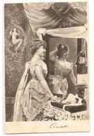 FF 780 OLD  ( 1903 )  FANTASY POSTCARD ,  FINE ART  , FEMALE FIGURATIVE - Mujeres