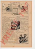 2 Scans Presse 1907 Humour Les Huitres Colis Postal Gare De Saint-Vallier La Maladière ( Drome ? ) Ostréiculture 223CH26 - Alte Papiere