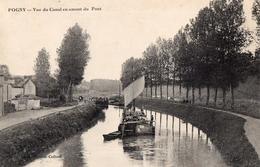 CPA Batellerie  - 51 - POGNY - Vue Du Canal En Amont Du Pont - Editeur, Thirion-Collard - Autres Communes