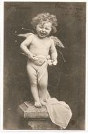FF 805 OLD    FANTASY POSTCARD ,  FINE ART  , FEMALE FIGURATIVE , CHILDREN , ANGELS - Mujeres