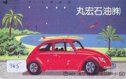 Télécarte JAPON *  VW *  VOLKSWAGEN (365) KAFER *  Phonecard JAPAN * VOITURE * Auto CAR * TELEFONKARTE - Autos