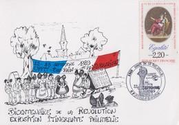 Carte  FRANCE   Bicentenaire  De  La   REVOLUTION     STRASBOURG    1989 - Révolution Française