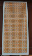 Feuille Complète De 100 Valeurs MARIANNE DE DULAC 1945 - 5F Orange - N° 697** - Série De Londres - Full Sheets