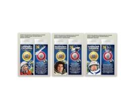 Russia 2019, Space, Y.Gagarin, V.Tereshkova, A.Leonov 25 Rbl X 3 Coins In Pack - Russia