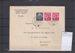 Deutsches Reich Michel Kat.Nr. Gest 480 MiF Nach Spanien - Lettres & Documents