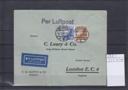Deutsches Reich Michel Kat.Nr. 533 MiF Nach London - Lettres & Documents